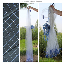 Lawaia Casting Net Diameter 2.4M-7.2M Hand Throw Network Fly Folding American Style Fishing Tools