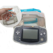 Capa tpu protetora para nintendo gba, acessório de proteção clara para console nintendo gameboy
