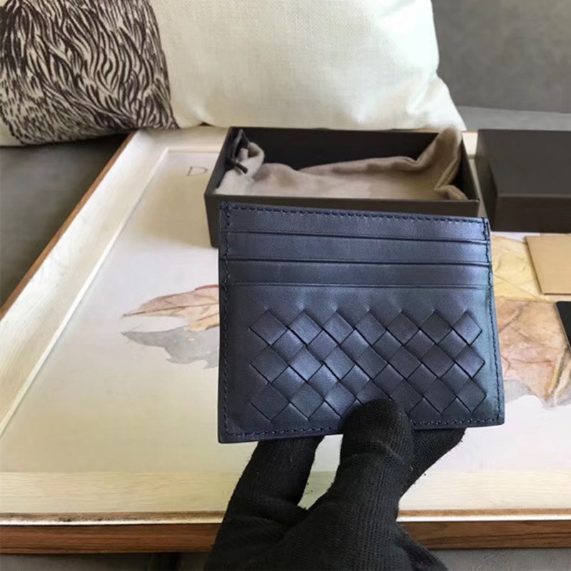 2019 New Pattern  Small Card Bag  Credit Package  Genuine Leather Available For Men And Women  Weave Multi-card Position