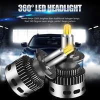 2 piezas 12 lado 3D de los faros de coche 19000LM H11 H7 Canbus No Error H8 H1 HB3 9005, 9006 de 360 grados bombilla LED CSP lámpara antiniebla automotriz 12V