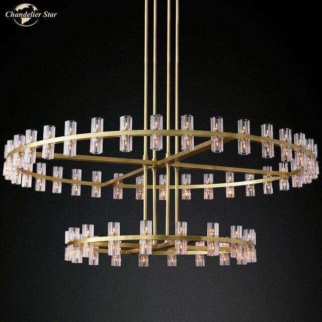 Фото постмодерн роскошный подвесной светильник для спальни гостиной