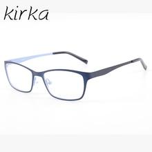Kirka Kids Glasses Navy Children Eyeglasses Metal Eyewear Boys Eyeglass Frames For 6-12 Years Old Child Frame