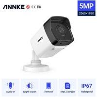 ANNKE-cámara IP C500 Ultra FHD, 5MP, POE, para interior y exterior, red de seguridad impermeable, visión nocturna Bullet, Auido, color blanco