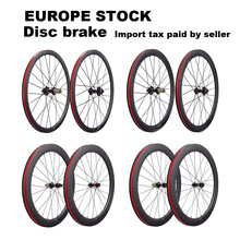 Дисковый тормоз 700C карбоновые колеса шоссейные велосипеды велокросса набор колес с Novatec Центральный замок или 6 пятно 12X100/15X100mm TA ступица QR ...
