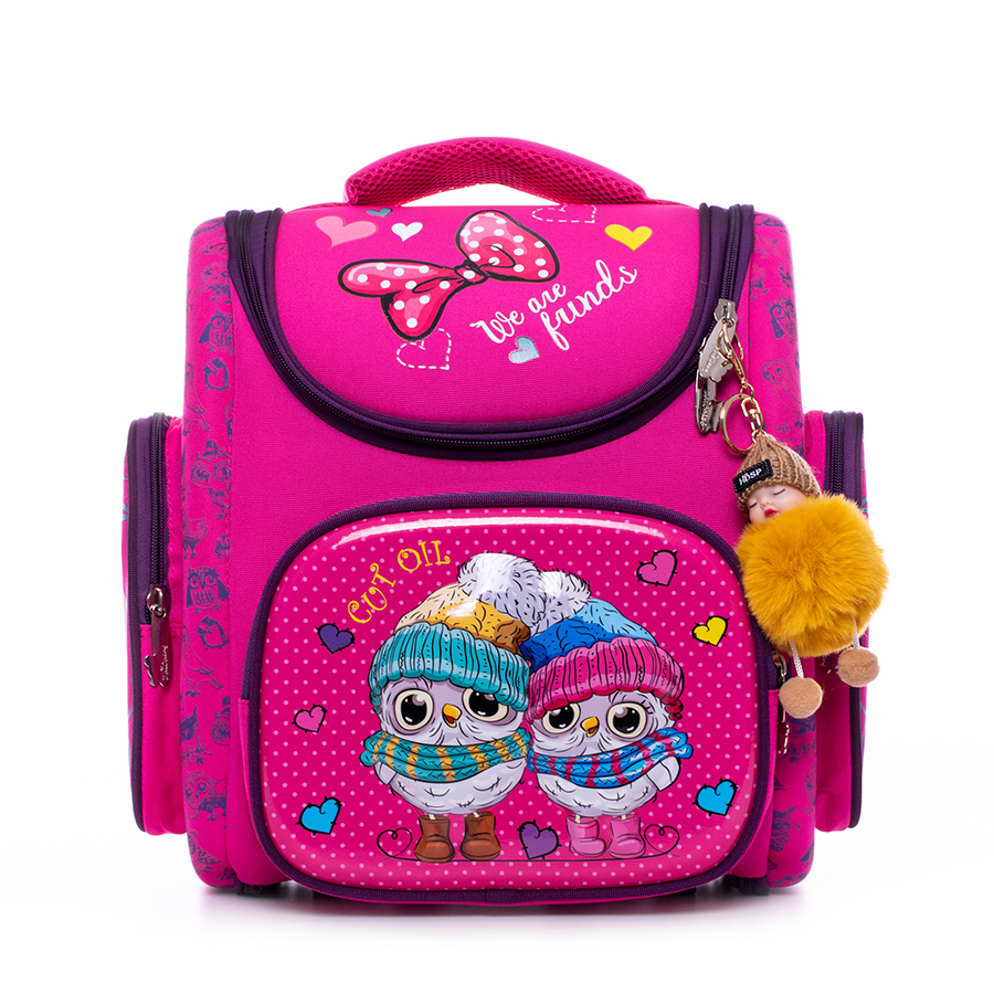 3D Orthopedic Schoolbag Backpacks Satchel Girls Cartoon Owls Kids Satchel Children School Bags Knapsack Mochila Escolar 2020 New
