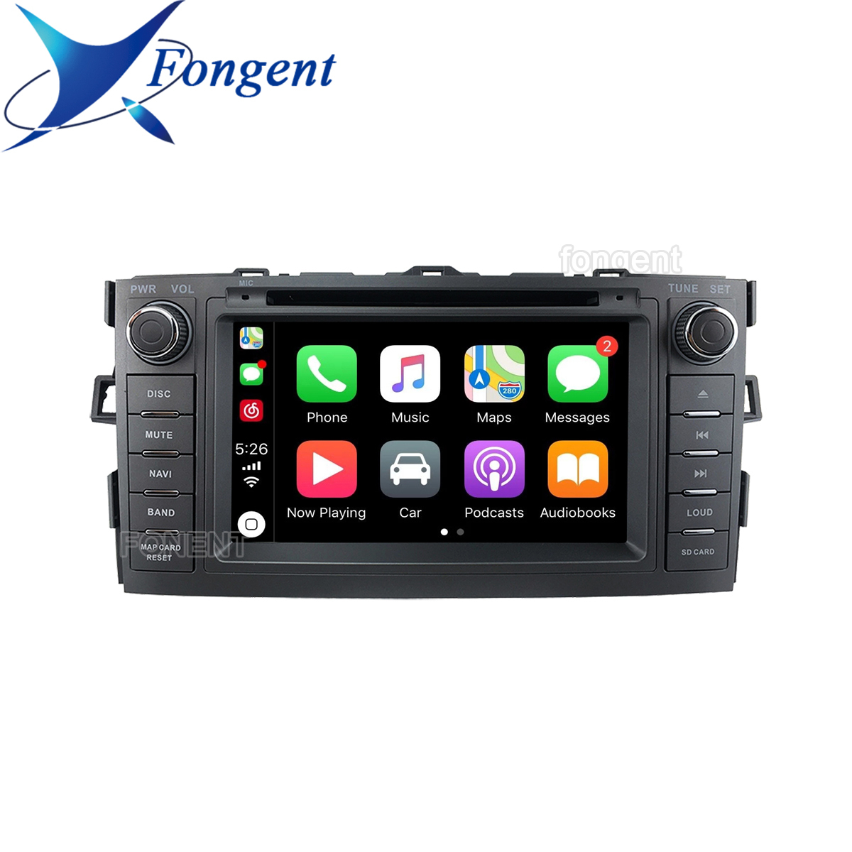 Android Unit <font><b>2</b></font> <font><b>din</b></font> DVD Audio Auto Stereo radio Multimedia Player For Toyota Auris <font><b>2008</b></font> 2009 2010 2011 2012 Vehicle GPS Navigator image