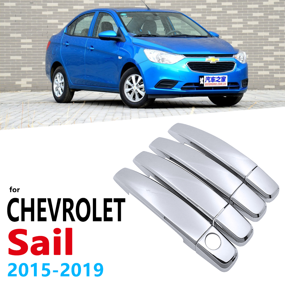 Chrome Handles Cover Trim for Chevrolet New Sail Nuevo 2015 2019 Car Accessories Stickers Auto Styling 2016 2017 2018