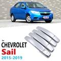 Хромированные ручки Накладка для Chevrolet новый парус Nuevo 2015 ~ 2019 автомобильные аксессуары наклейки на авто Стайлинг 2016 2017 2018
