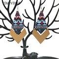 YD & YDBZ новые серьги-подвески для женщин большие серьги с пиар серьги ювелирных изделий с принтом деревянная серьга в стиле «панк» для девоче...