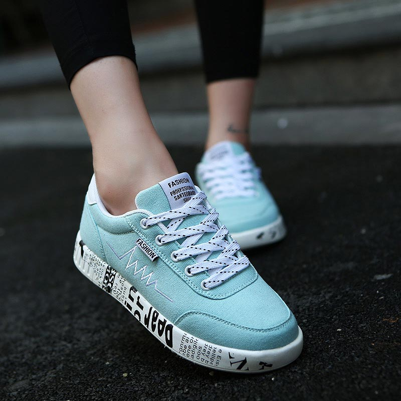 Breathable Running Shoes Woman Sneakers For Women Sports Shoes Lady Footwear For Sport Women Gym Shoes Summer Light Blue A-381