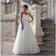 Smileven  A Line Boho Wedding Dress Sweetheart Bridal Dresses Lace Up Back Vestido De Noiva Lorie Gowns Turkey