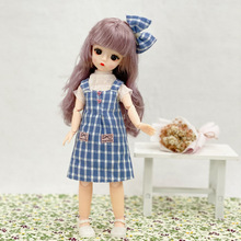 30cm Doll 6 Points Bjd Doll Fashion Dress Up Dress Princess Suit 23 Joint Movable 3D Real Eye Girl Birthday Gift Toy Decoration