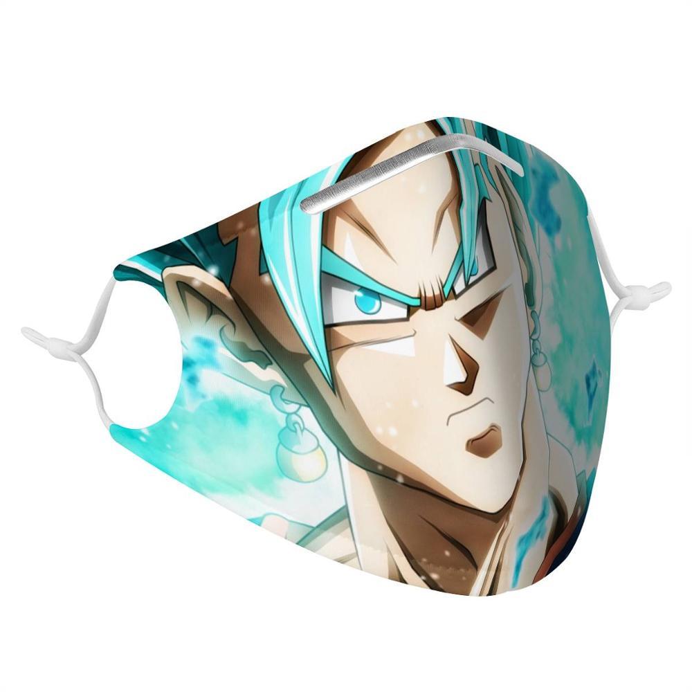 Goku 4Pcs Filter Gas Masks Dragon Ball Women Men Anti-dust Masks Fashion Washable Reusable Face Mask Non-disposable