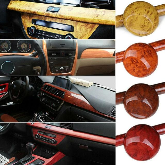 Car Interior Film High Glossy Wood Grain Textured Wrap Sticker 1
