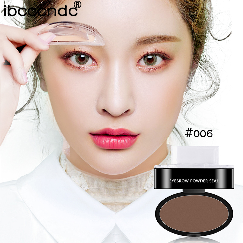 3 Colors Quick Makeup Eyebrow Powder Seal Waterproof Eyebrow Stamp Long Lasting Eyebrow Shadow Set 3 Natural Shape Brow Stamp