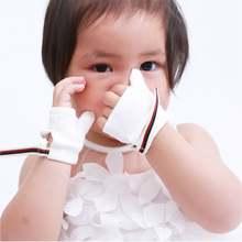 1 par alimentador crianças mar-ilha de fibra polegar chupetas chupetas luvas do bebê dedo indicador parar dedo protetor do bebê crianças rosa