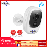 Hiseeu-cámara IP inalámbrica con batería recargable, 1080P, Solar, para exteriores, impermeable, para seguridad del hogar, Wifi, Monitor PIR para bebés código promocional 11112020ES3,3 euros de descuento