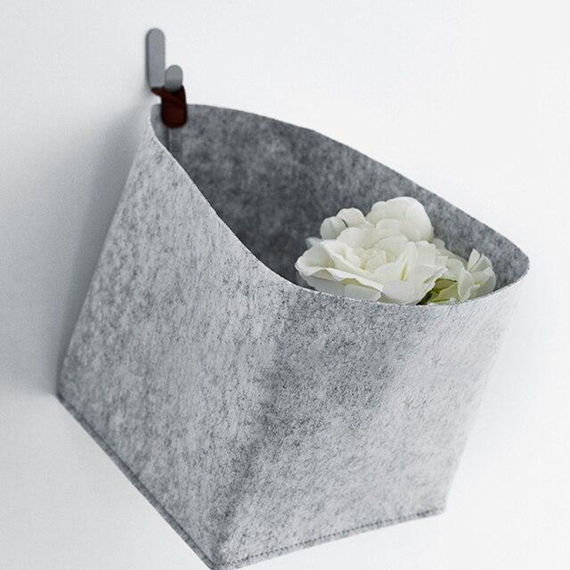 Rectangular Felt Foldable Standing Decorative Storage Basket Toy Organizer Household Multifunctional Solid Soft Nordic Style