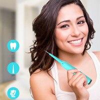 Liaboe przenośny higieny jamy ustnej czyszczenie zębów usta proteza zębowa irygator jamy ustnej LED światła wody jet z dwie główki szczoteczki w Irygatory do jamy ustnej od AGD na
