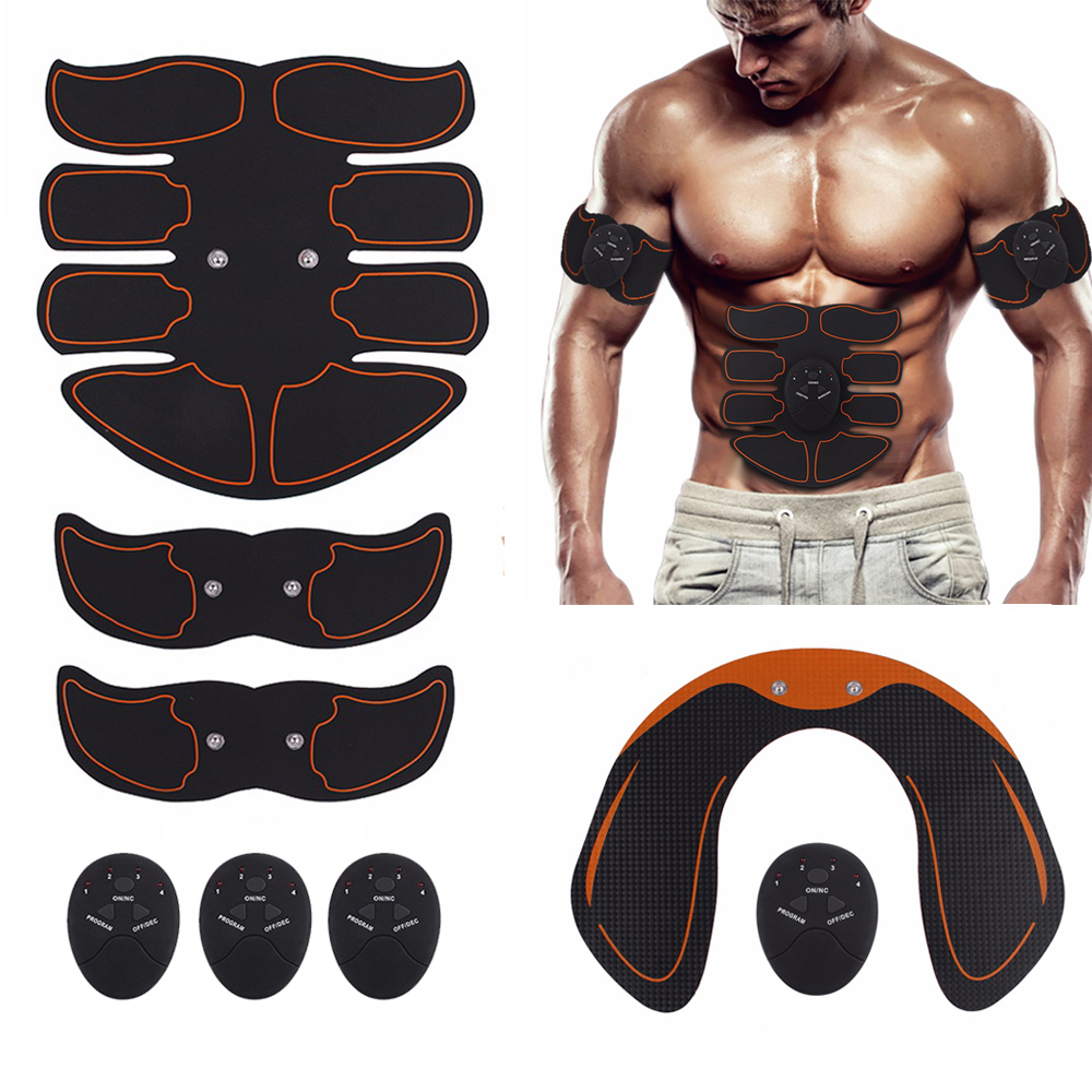 EMS Hip Abdominal Exerciser Muscle Stimulator Trainer Electric Vibrating Slimming Belt Fitness Massager Buttocks ABS Machine