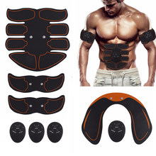 EMS Hip Abdominal Exerciser Muscle Stimulator Trainer Electric Vibrating Slimming Belt Fitness Massager Buttocks ABS Machine(China)