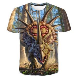 Dinosaur t shirt For Boys Clothes Children T-shirt Animal Shirts Baby Boy Tshirt Kids Short Sleeve Girls Clothing Casual Clothes