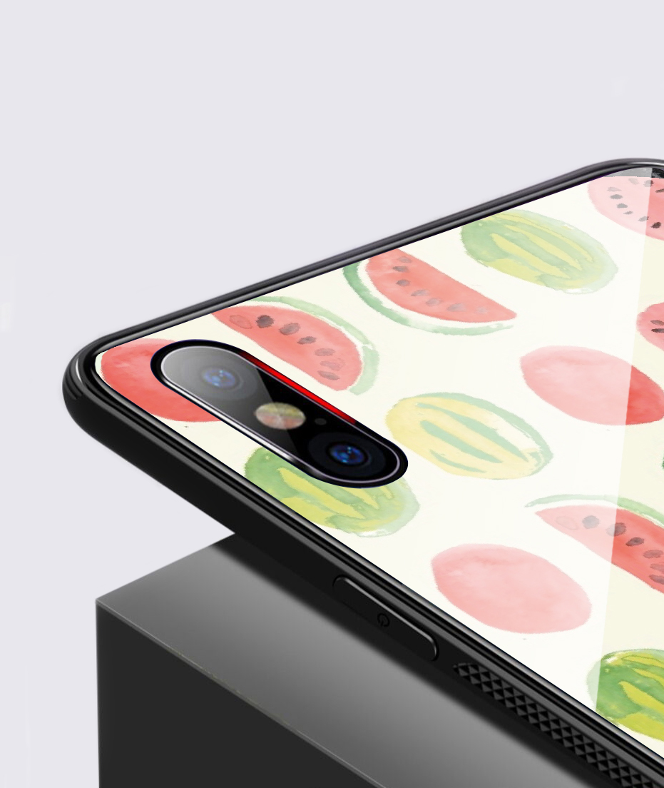 Fruit Phone Case for iPhone XR X XS MAX 11 Pro Max Cute Food Cover for 7 8 PLUS Tempered Glass Case for iPhone 6 6S PLUS 5 5S SE in Half wrapped Cases from Cellphones Telecommunications