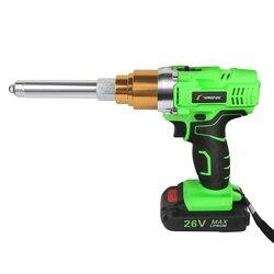 Riveter Gun 26v 3000mAh Cordless Elektrische Niet Pistole Elektrische Blind Unterstützung 2,4mm-5,0mm Niet Mit LED Licht 2 batterien