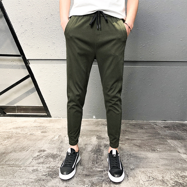Pantalones Hombre Fashion 2020 New Spring Streetwear Joggers Men Slim Fit All Match Solid Casual Pants Men Drawstring Trousers 2