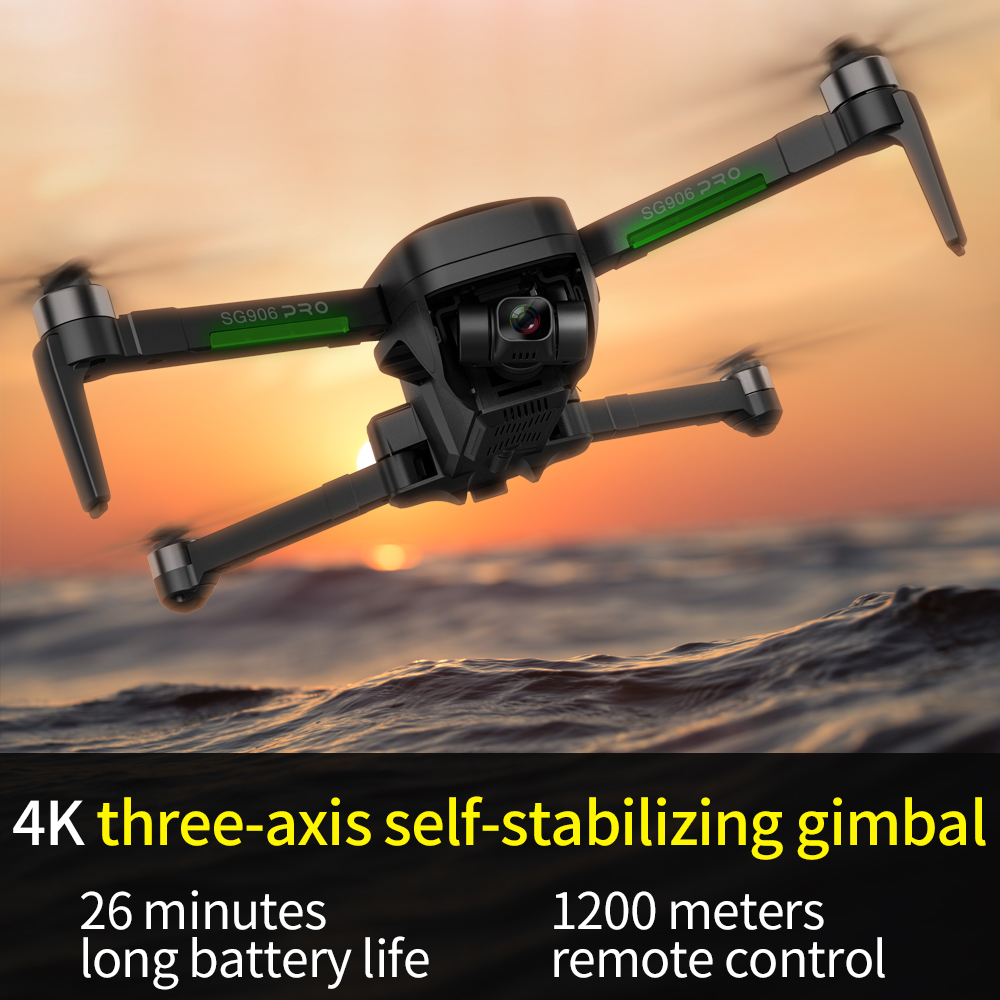 SG906 Pro 2 Drone 3-axis gimbal with GPS 4K 5G WIFI Dual camera professional ESC 50X Zoom Brushless Quadcopter BEAST RC Dron 5