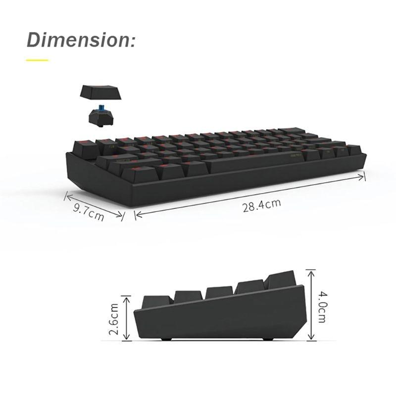 Image 5 - Anne Pro 2 Keyboard Bluetooth 4.0 Type C RGB 61 Keys Mechanical Gaming Keyboard Cherry Switch Gateron Switch Kailh SwitchKeyboards   - AliExpress