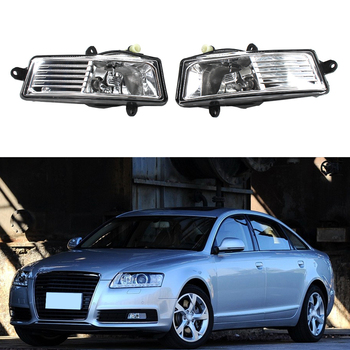 Car LED Fog Lamp Car Accessories For Audi A6 C6 2009-2012 Car-Styling Front Bumper LED Fog Lamp Fog Light Assembly image