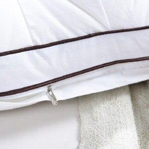 Image 5 - Down Feather Pillow Super soft White Duck/Goose Neck pillow Standard Antibacterial Elegant Home Textile Cotton Bedding Pillow