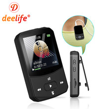 Deelife MP3 Player Bluetooth HIFI Music Play MP 3 with Memory 32GB 8GB FM Radio Portable for Running Clip Mini