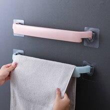 Полезные пластиковые настенные ПОЛОТЕНЦЕДЕРЖАТЕЛЬ для ванной полка-вешалка на клейкой основе для Туалетная рулонная бумага подвесная вешалка Ванная комната поставки