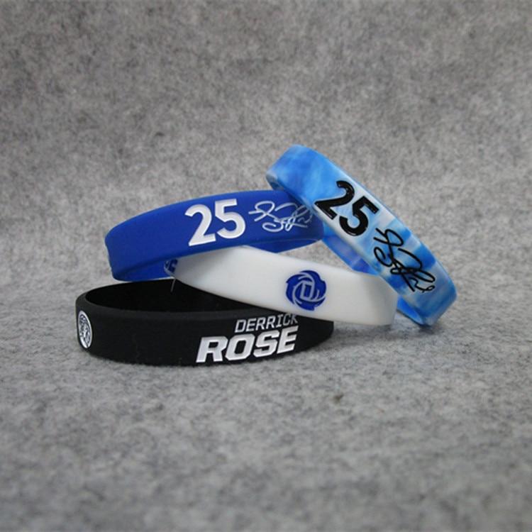 Basketball Star Timberwolves 25 Derek. Ross Signature Night Light Sports Bracelet Silicone Wrist Strap Fans