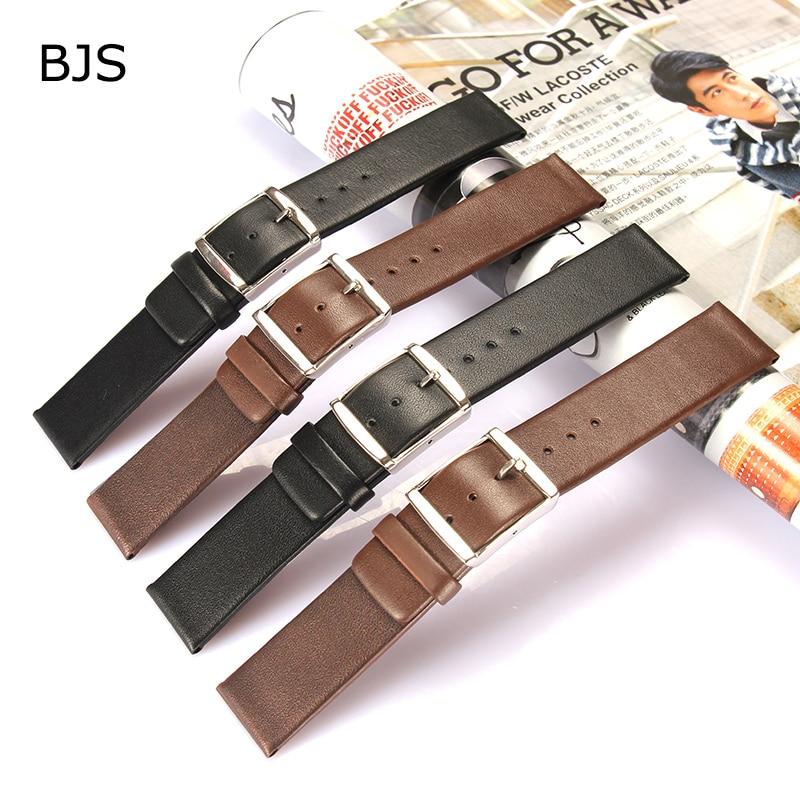 Vintage Genuine Leather Watchbands black brown Belt16mm 18mm 20mm 22mm 24mm Women Men Cowhide Watch Band Strap Watch Accessorie