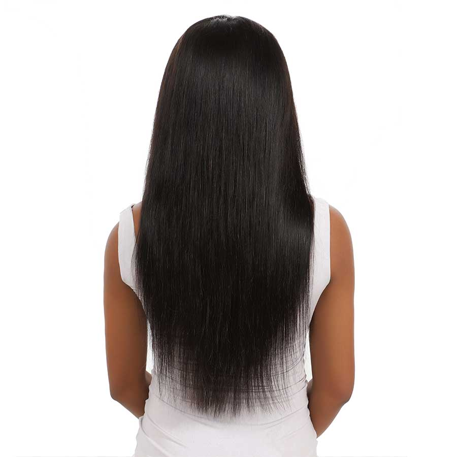 Hfe5c2bb199b94b44bc86c7a0e22ee014r 10-28 inch wigs Brazilian 4x4 Closure Wig 100% Human Hair Lace Wigs Long Straight Remy Lace Closure Wigs for Woman 150 Density