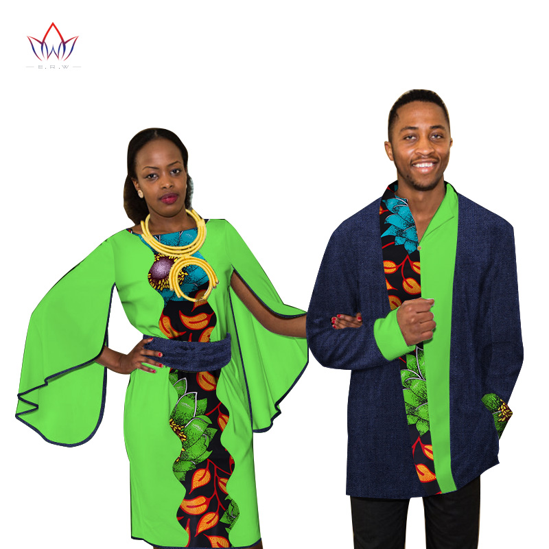 Dashiki Couples Clothes African Dresses for Women and Men Shirt African Clothes for Lovers Traditional African Clothing WYQ100 kayak suit