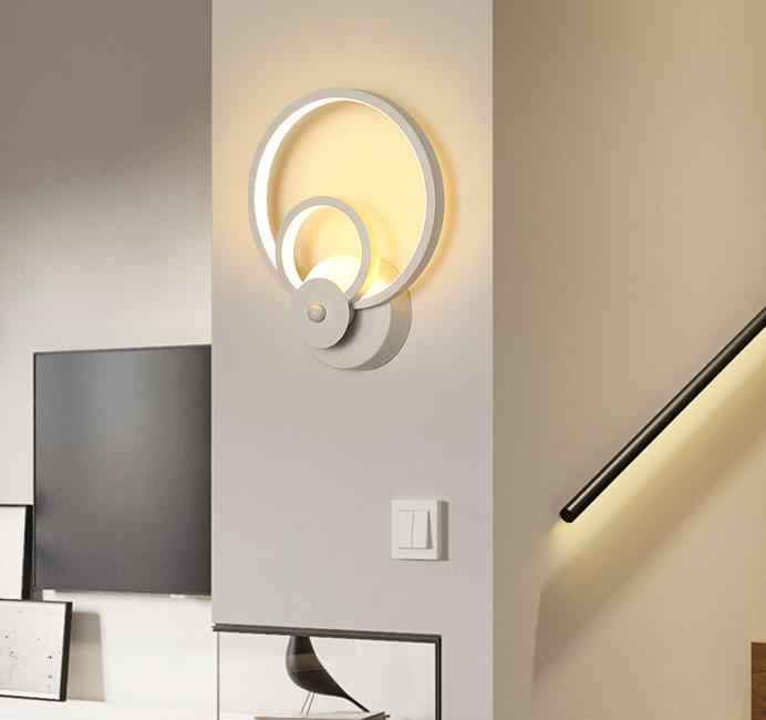 Led Wall Light For Bedroom Bedside Indoor Wall Lamp Lighting Wall Lights Home Decor White Black Sconce Wall Art Light Led Indoor Wall Lamps Aliexpress