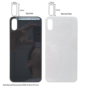 Image 5 - 10 sztuk Big Hole metalowa rama pokrywa baterii tylne drzwi obudowy telefonu obudowa tylna pokrywa dla iPhone X XS MAX szklane ciało powrót obudowa
