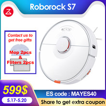 2021 Newest Roborock S7 Vacuum Cleaner Sonic Mopping Robot WiFi App Control Auto Sweep Dust Sterilize New Rubber Floating Brush