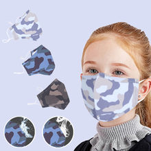 1PCS Summer Children Printing Face Maskswashable And Reusable Facemask Breathable Dustproof Masque Cotton Facemask #K35(China)