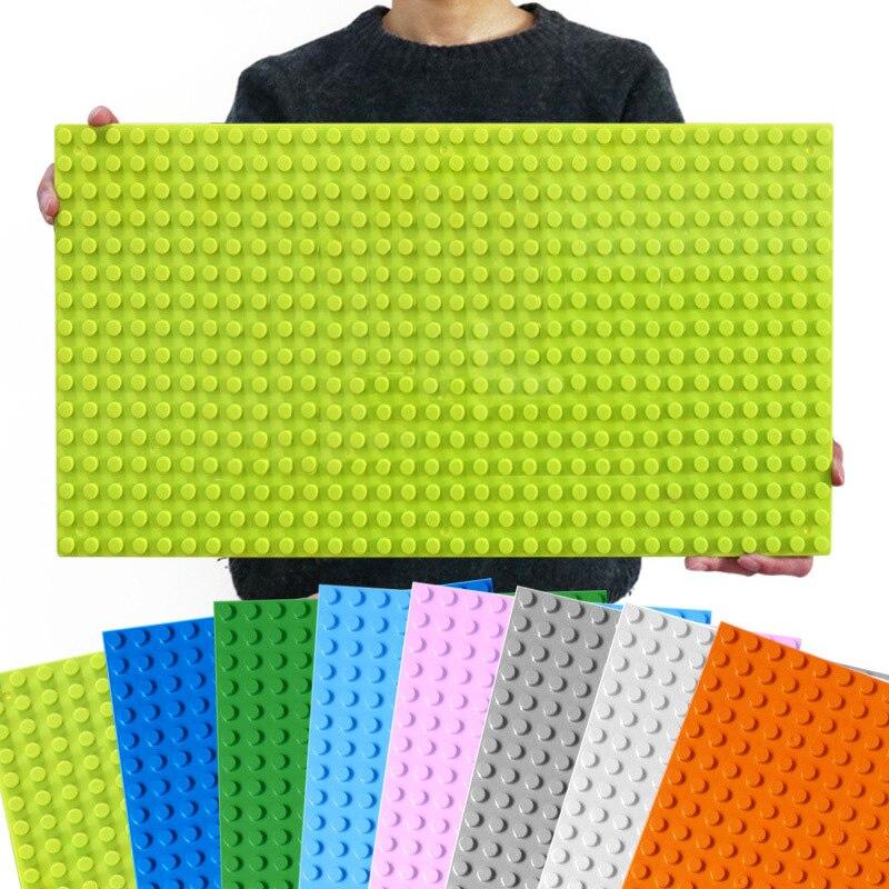 Новинка 512, базовая пластина Duploe для больших кирпичей, 16*32 точек, 51*25,5 см, базовая пластина «сделай сам», строительные блоки, игрушки для детей...