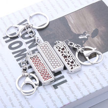 Stainless Steel Aroma Diffuser Keychain Perfume Locket Key Chain Essential Oil Diffuser Key Chain Pendant Dropshipping(China)