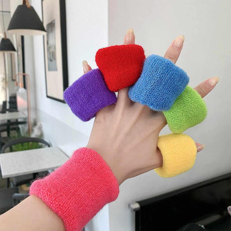 Neue Einfarbig Plüsch Elastische Haar Bands für Frauen Mädchen Einfache Breiten Haar Seil Riegel-pferdeschwanz Halter Mode Haar Zubehör