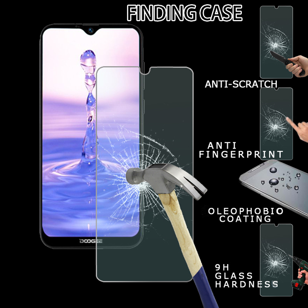 Tempered Glass Screen Protector Anti-fingerprint Suitable For Doogee X90/X90L/Y8/Y8C Explosion-Proof Screen Protector