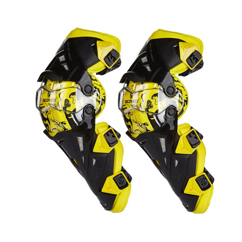 2pc Motorcycle Knee Pad Protective Gear Knee Guards Safety Gears Race Brace Q9QD