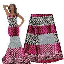New arrival 2020 fushia pink lace fabrics nigeria lace african materials for clothing high quality nigerian aso ebi lace fabric cheap ourwin CN(Origin) Embroidered Net Cloth E50746 Mesh Rhinestones 120-130cm Eco-Friendly Sky blue gold green royal blue Purple fushia pink silver