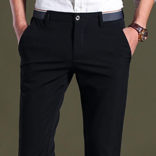 Men's Four Seasons Casual Pants Business Pants No-Iron Straight-Fit   Dress Pants Formal Trousers Long Pants Bottoms 2